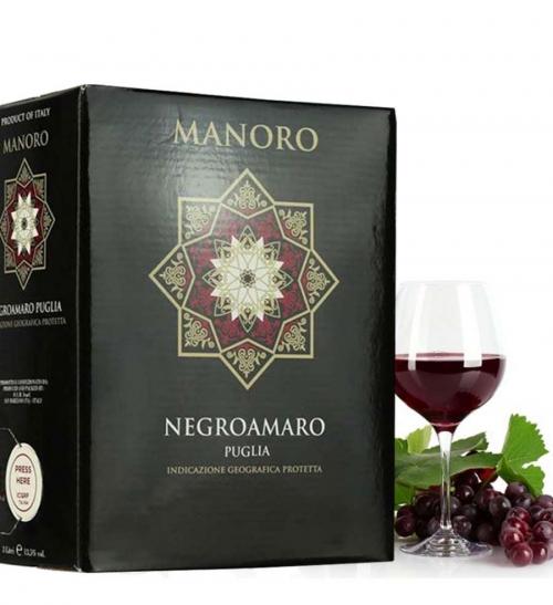 Rượu vang bình Ý Manoro 3 lít